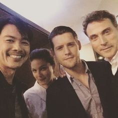 Joel de la Fuente, Alexa Davalos, Luke Kleintank and Rufus Sewell  - THE MAN IN THE HIGH CASTLE cast