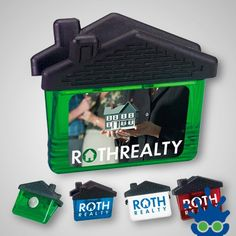 The house clip magnet is sure to be a big hit in the real estate and mortgage industry! This clip can hold paper while attaching itself to a magnetic surface. The roof is made of black rubber grip and the houses come in blue, green and white! Ideal for real estate or mortgage companies! As low as $1.59 #PromotionalProducts #Customize #RealEstate #Marketing #Magnet
