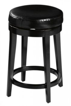 Leather Non-Tufted Swivel Counter Stool - Counter Stools - Kitchen Furniture - Furniture | HomeDecorators.com
