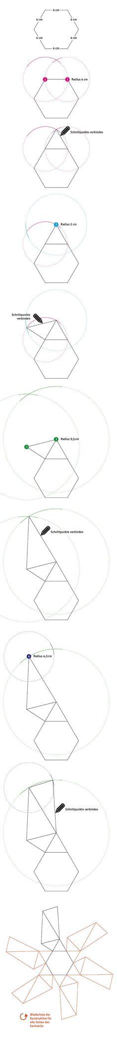 Konstruktion Vorlage für Beton-Becher