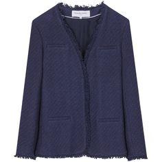 Gerard Darel Indigo Jacket, Blue (24.345 RUB) ❤ liked on Polyvore featuring outerwear, jackets, gerard darel jacket, indigo jacket, gérard darel, short jacket and blue jackets