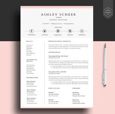 Resume Template Instant Download     Pages Cv Template