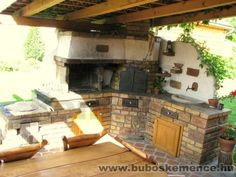Búbos kemence - Kerti grill, kombitűzhely/bubos-kemece.hu Barbacoa, Outdoor Oven, Summer Kitchen, Outdoor Living, Outdoor Decor, Back Patio, Bbq Grill, Outdoor Gardens, Sweet Home