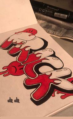 Graffiti Lettering Fonts, Graffiti Writing, Graffiti Tagging, Graffiti Alphabet, Graffiti Words, Graffiti Wall Art, Graffiti Doodles, Cute Canvas Paintings, Hippie Art