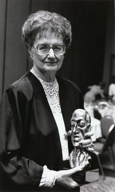 Andre Norton with her World Fantasy Award