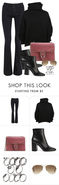 """""""Untitled #2781"""" by camilae97 ❤ liked on Polyvore featuring Hudson, Unravel, Gucci, Gianvito Rossi and Ray-Ban"""