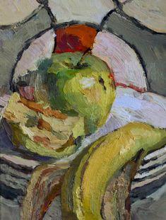 Apple still life oil painting by Victoria Duryagina #OilPaintingFood