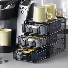 Black K-Cup Storage Drawer - Holds 36 | Tea & Coffee Storage |