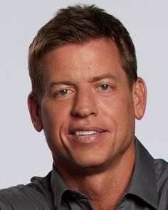 Troy Aikman - Former Dallas Cowboy Quarterback. I love the 90's when the Cowboy's won back to back super bowls!