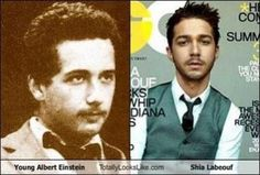 Celebrities and their historical lookalikes.