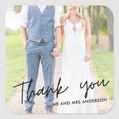 Shop Hand Lettered Photo Modern Wedding Favor Square Sticker created by stylelily. Groomsmen Attire Beach Wedding, Casual Groom Attire, Groom And Groomsmen Attire, Groom Outfit, Modern Wedding Favors, Wedding Pics, Wedding Ideas, Diy Wedding, Tangled Wedding