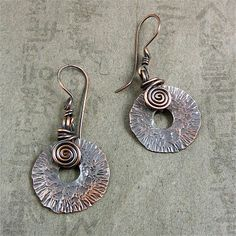 My Altered Pennies earrings
