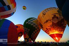 Frühstart by michaelhubrich  Air America Amerika Ballon USA color colorful hot light sky travel michaelhubrich