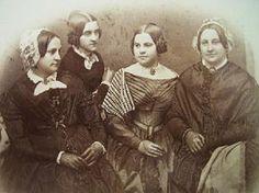 The Barrington House Educational Center, L. Timeline Images, 1850s Fashion, Vintage Photographs, Vintage Photos, Group Pictures, Hairdresser, Family Photography, Victorian, War