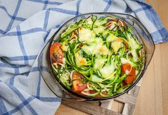 Baked Zoodles Caprese
