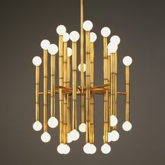 "Jonathan Adler Meurice Chandelier--also available in nickel--19.25"" wide x 22"" high  • minimum drop 28"", maximum drop 57.25"""