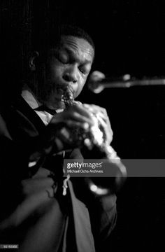 Jazz musician John Coltrane performs live circa 1959 in West Germany.