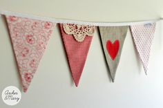 Vintage Doily Bunting by Archer & Mary