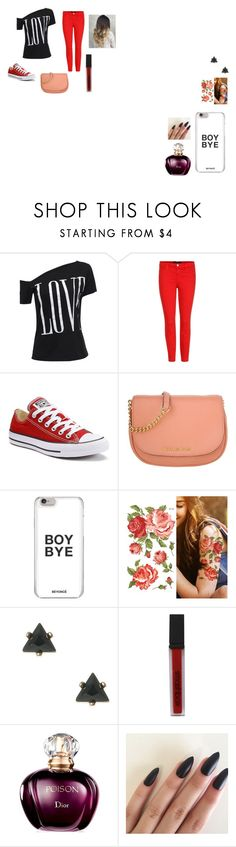 """""""Love outfit"""" by ivieoww on Polyvore featuring J Brand, Converse, Michael Kors and Smashbox"""