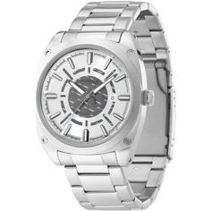 Police Men's Enforce-X Silver Grey Dial Stainless Steel Watch Police Watches, Watches For Men, Men's Watches, Stainless Steel Watch, Stainless Steel Bracelet, Grey Watch, Brand Name Watches, Brass Metal, Watch Sale