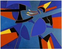 Runaway Comet by artist Francoise Gilot, an associate of Picasso and so much more than that! Picasso Art, Pablo Picasso, Francoise Gilot, Geometric Painting, Feminist Art, London Art, French Artists, The Guardian, Art Tutorials