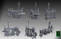 HeroQuest 25th Scenery: Weapon rack by zelldweller