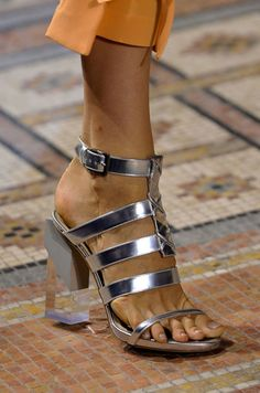 Runway shoes from #pfw #ss14