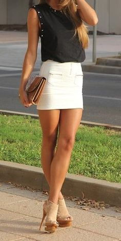 Wife in short skirts
