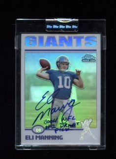 RARE 2004 ELI MANNING TOPPS CHROME ROOKIE AUTOGRAPHED CARD