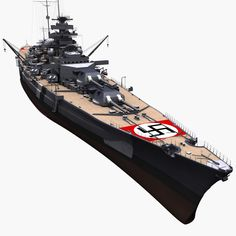 bismarck german battleship 3d model