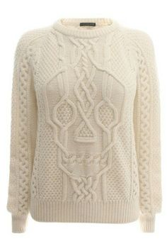 Chart for this sweater:  https://conceptcreativeblog.wordpress.com/2014/09/29/knit-cable-pullover-with-skull-pattern-free-diagram/