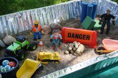 construction bin - happy hooligans - sensory play - sensory binshappy hooligans