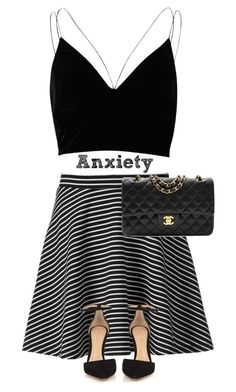 """""""Anxiety Attack *Imagine* (RTD)"""" by mel2016 ❤ liked on Polyvore featuring River Island, Apt. 9, Gianvito Rossi, Chanel, polyvoreeditorial, polyvorefashion, Melaniesfavorites and imaginemel"""