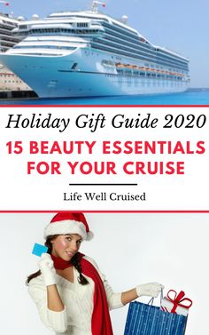 The ultimate gift guide or useful beauty essentials to bring on a cruise. Perfect travel must haves for women who love to cruise and travel! Packing For A Cruise, Cruise Vacation, Holiday Gift Guide, Holiday Gifts, Travel Must Haves, Cruise Destinations, The Ultimate Gift, Royal Caribbean, Beauty Essentials