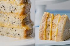 Poppyseed Cake w Passion-Fruit Curd