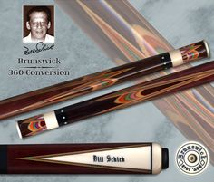 Bill Schick Conversion of a Brunswick 360 Cue.      Chris Grader, you're an idiot for letting go of this one.      Photo by Deno Andrews maybe?