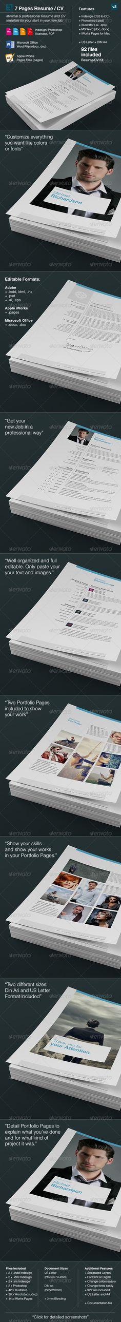 Resume Booklet Design _8 Pages Booklet design, Indesign - indesign resume templates