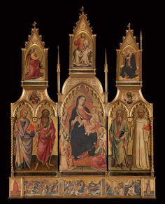 Mariotto di Nardo - Madonna con Bambino e Santi (polittico) - tempera su tavola - Museo di Pittura Murale di San Domenico, Prato