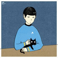 Mr.Spock (and cat) : Star Trek