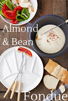 This vegan almond and northern bean fondue is the perfect light dinner and is great to serve at a cocktail party too!