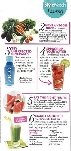 6 Drinks to Make You Look and Feel Your Best - including Kimberly Snyders Glowing Green Juice