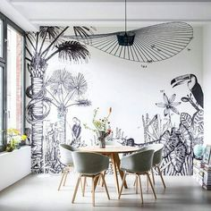 The Wild wall mural by Bien Fait Paris - Available at The Pattern Collective (www.thepatterncollective.com)