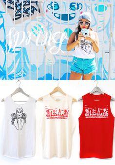 Check out our spring tanks @ shopmivida.com #boutique #shop #online #latina #NELA #LA #NorthEastLosAngeles #tanks #clothes #clothing #store #spring #trend #trends #streetwear #cali #california #MiVida #shopmivida #latino