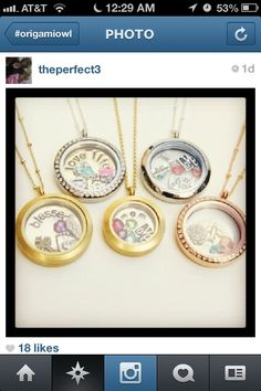 Most of the lockets show are silver. the Rose gold and Gold are also beautiful. Need to have a  Jewelry Bar to see in person www.christiepirot.origamiowl.com