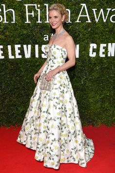 7 February The actress Emilia Fox made an entrance in a floral Bambah gown and De Beers jewellery. - HarpersBAZAAR.co.uk