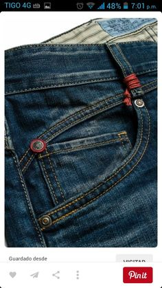 Replay jeans detail - I'm probably one of the few people who actually use that little pocket for what it was intended - a Fob Watch pocket. Denim Jeans, Raw Denim, Big Men Fashion, Denim Fashion, Replay Jeans, Denim Branding, Denim Trends, Indigo, Couture