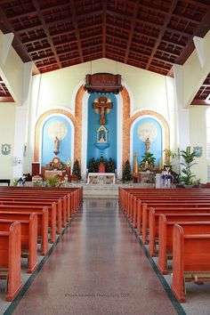 @Tracy Contreras - remember this place?   Guam   This is the church where the mysterious statue of the Virgin Mary I pinned previously lives.