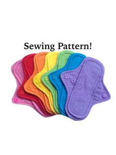 Cloth Pad Sewing Pattern - INSTANT DOWNLOAD - Make 7.5 inch pantyliners, cloth pads, cloth liners, mama cloth sewing pattern, diy cloth pad