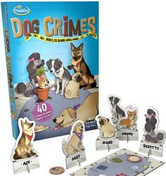Amazon.com: ThinkFun Cat Crimes Brain Game and Brainteaser for Boys and Girls Age 8 and Up - A Smart Game with a Fun Theme and Hilarious Artwork: Toys & Games Puzzle Games For Kids, Board Games For Kids, Alone Game, Logic Games, Challenging Puzzles, Best Mysteries, Brain Games, Family Game Night, Brain Teasers