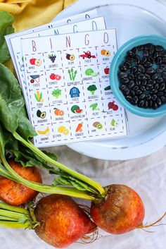 FREE Fruit and Veggie Bingo Game. Engaging way to encourage kids to eat healthy food.